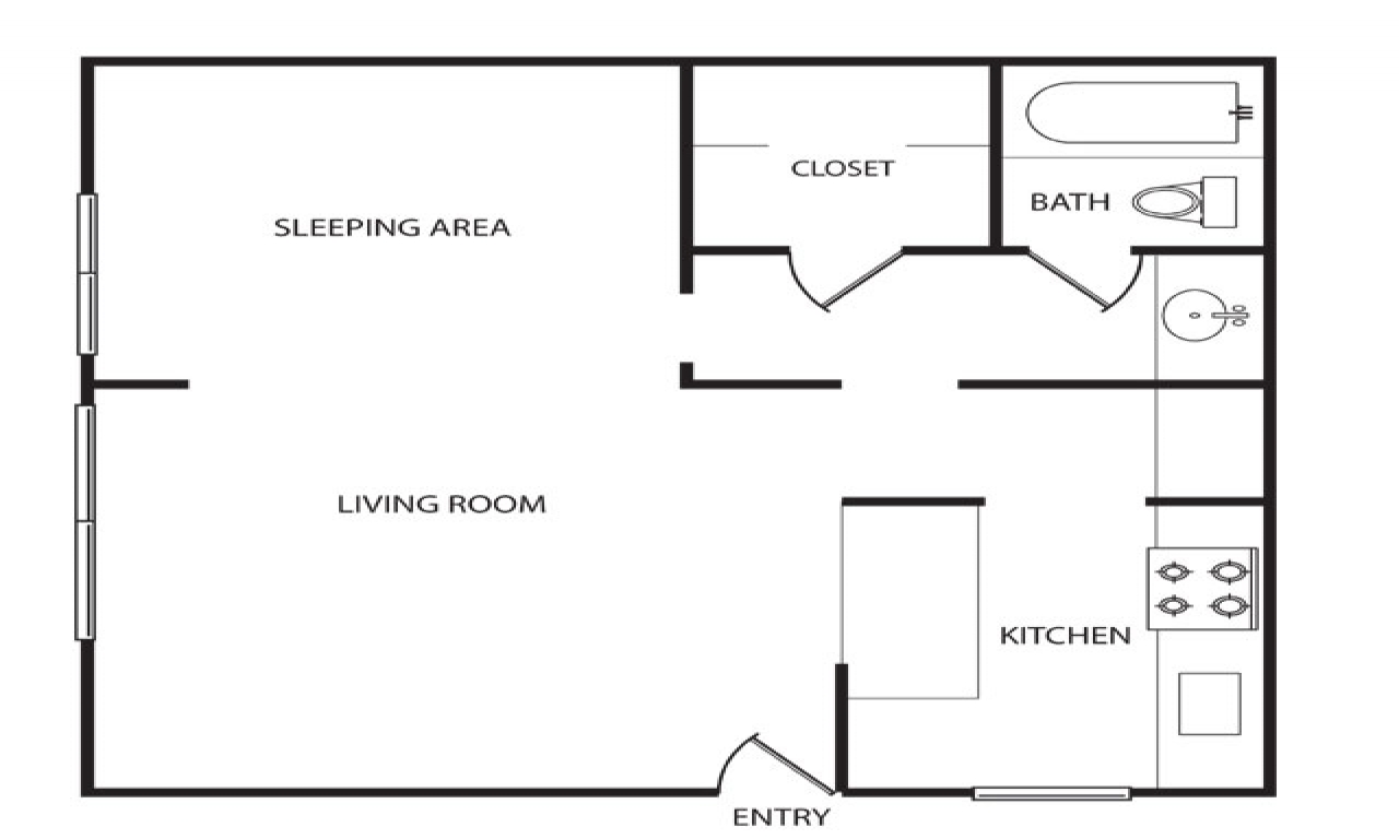 600 sq ft apartment floor plan 500 sq ft apartment layout for 380 square feet floor plan