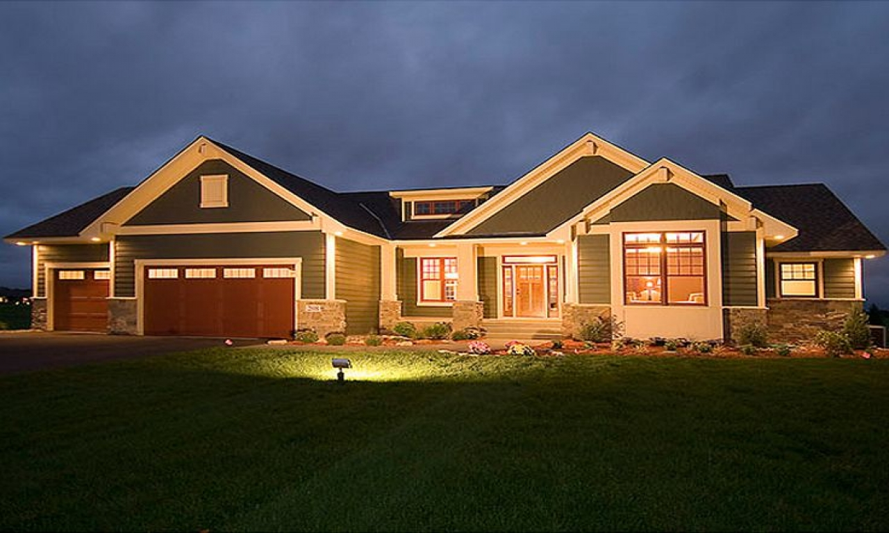 Craftsman bungalow house plans craftsman style house plans for New construction ranch style homes in illinois