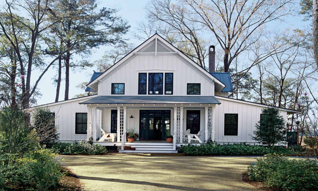 House plans southern living white plains one story house for White farmhouse plans