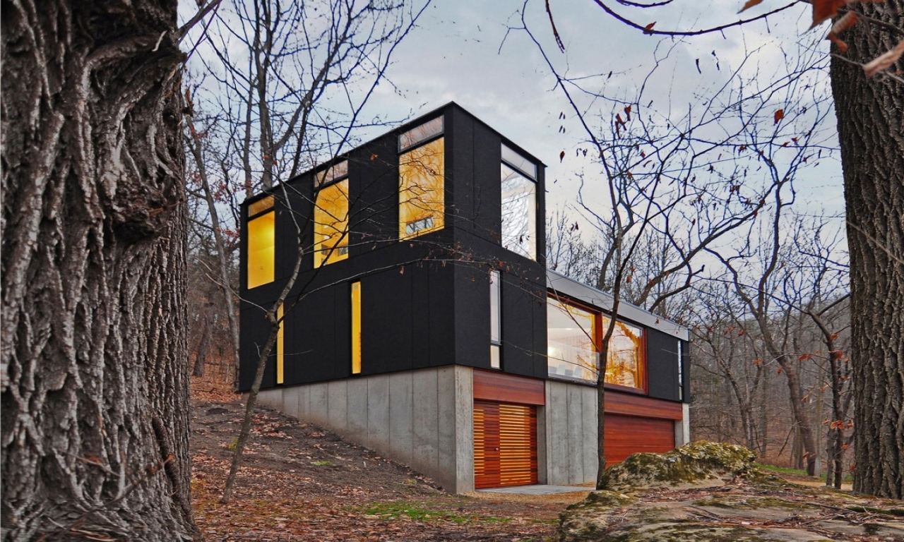 Modern Cabin Plans Small Modern Cabin In The Woods