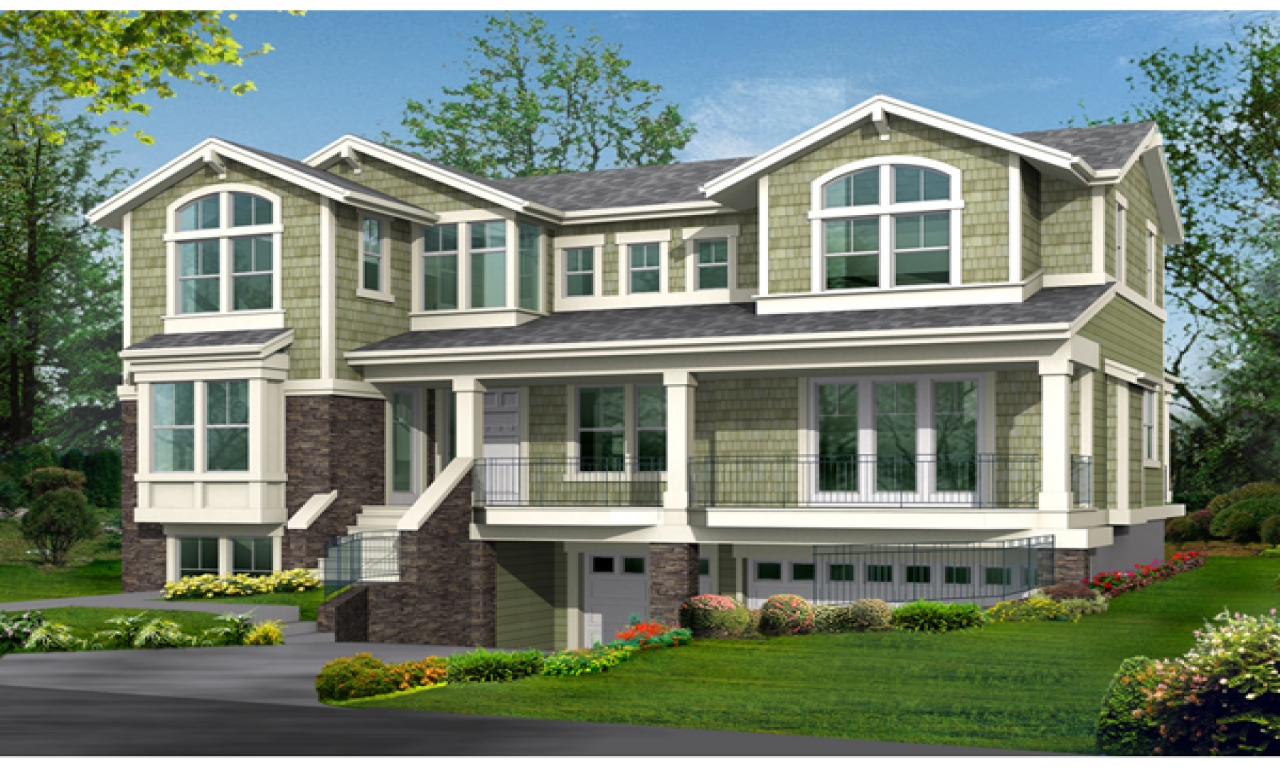 Modern raised ranch plans raised house plans drive under for Raised home designs