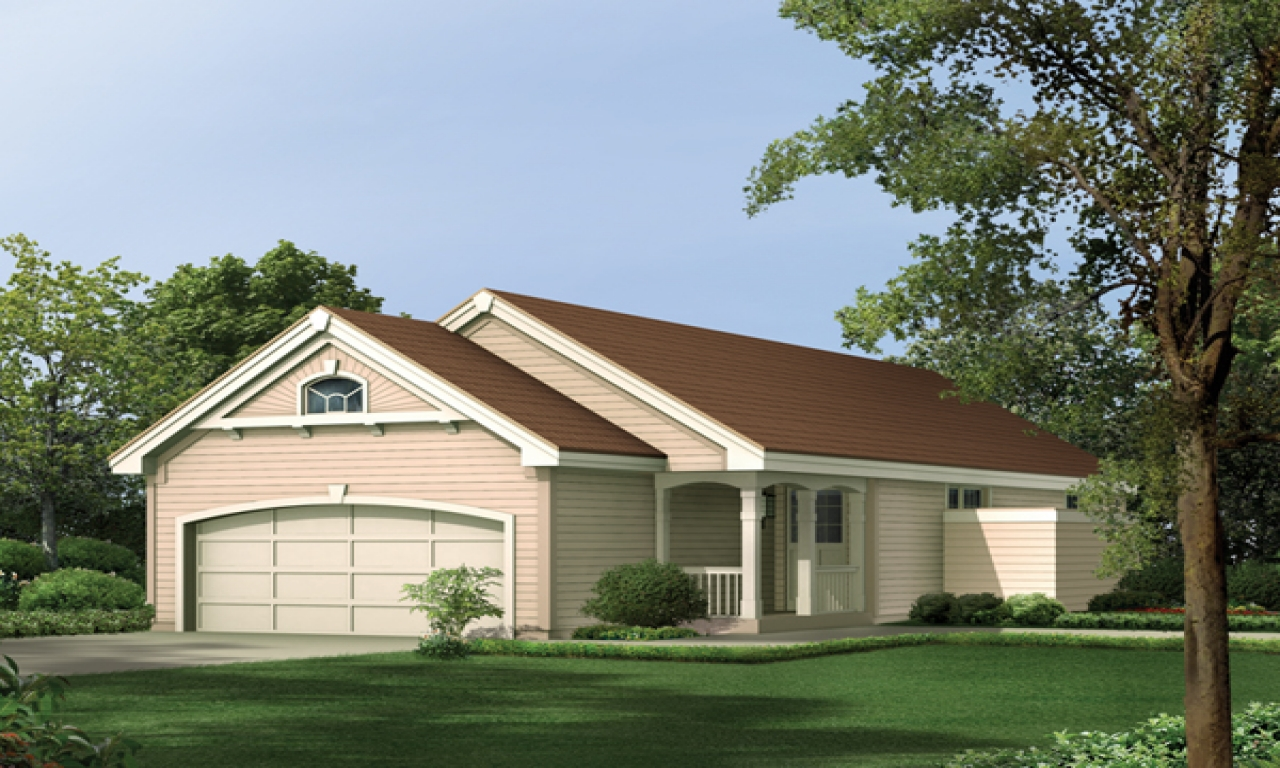 Narrow house plans with front garage narrow house plans for Narrow house plans with attached garage