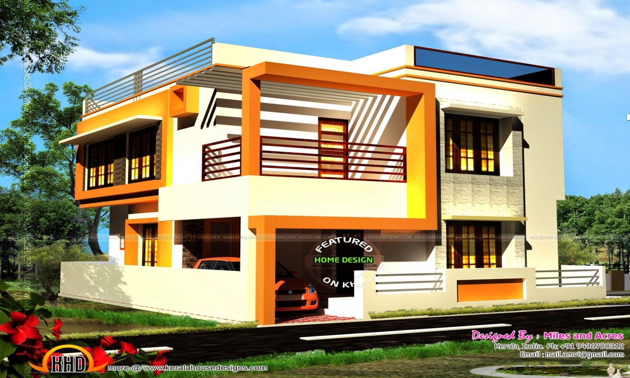 Simple house elevations elevation for houses double floor for Home designs double floor
