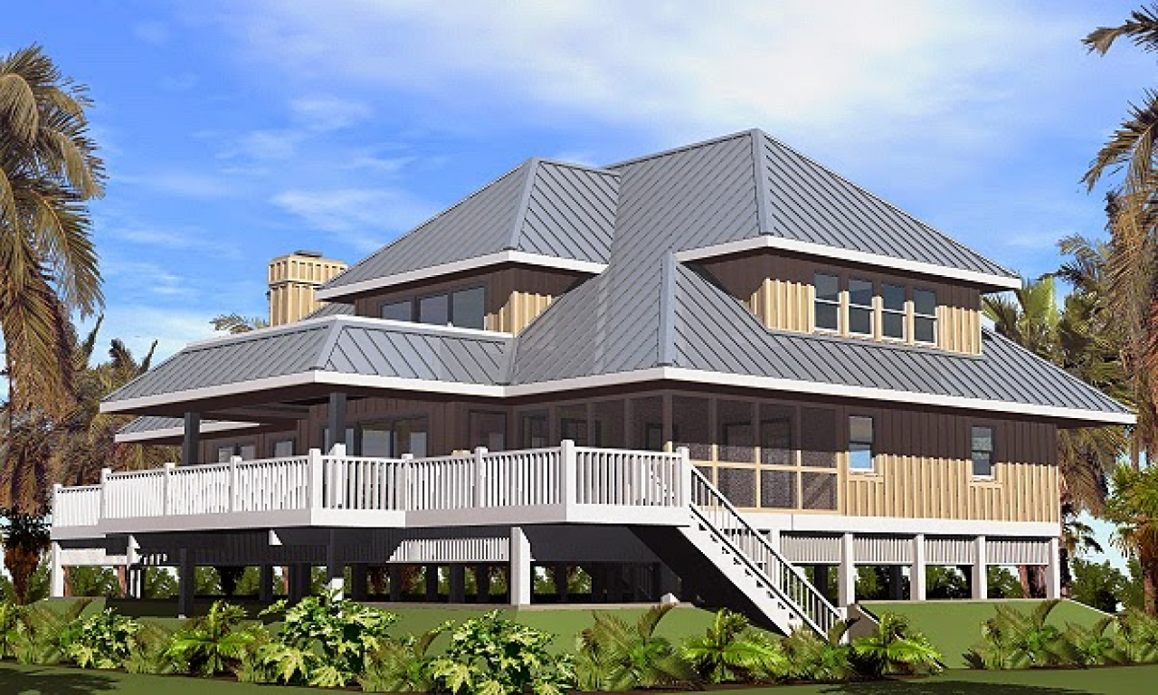 Beach Cottage House Plans On Pilings Beach House Plans