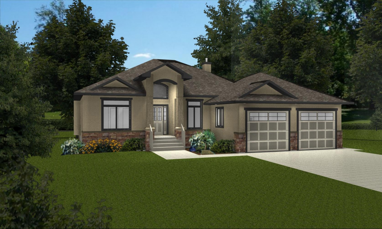 Bungalow floor plans with basement small bungalow house for Canadian house plans bungalow