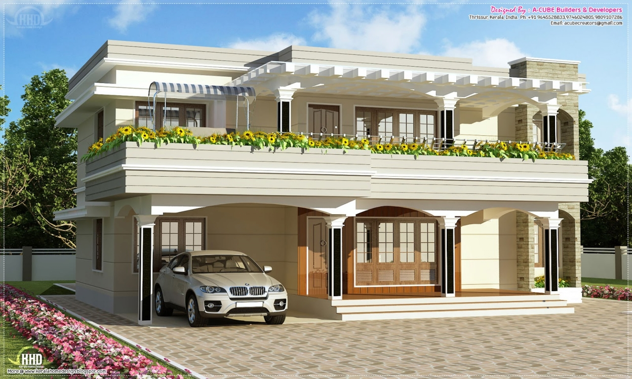 Roof Design Ideas: Flat Roof House Plans Designs Simple House Plans Flat Roof