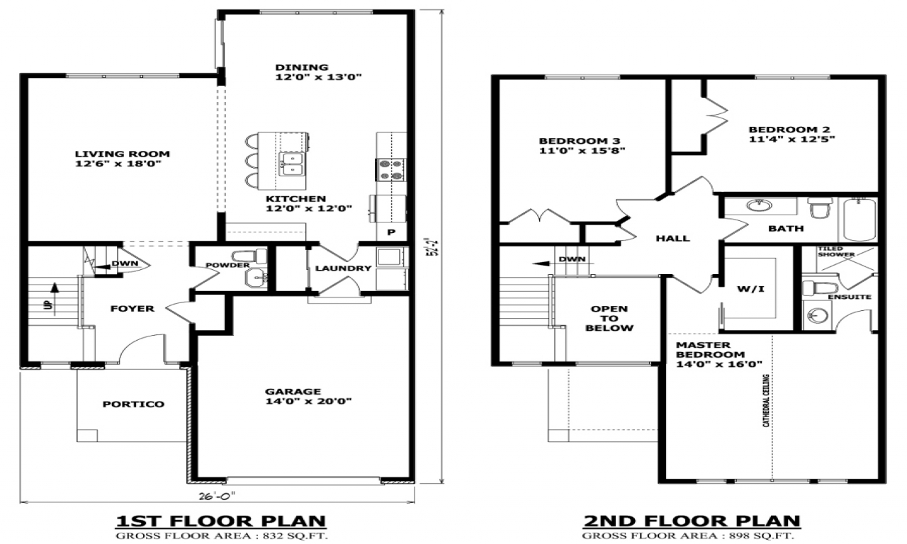 Inexpensive Two-Story House Plans Modern Two Story House ...