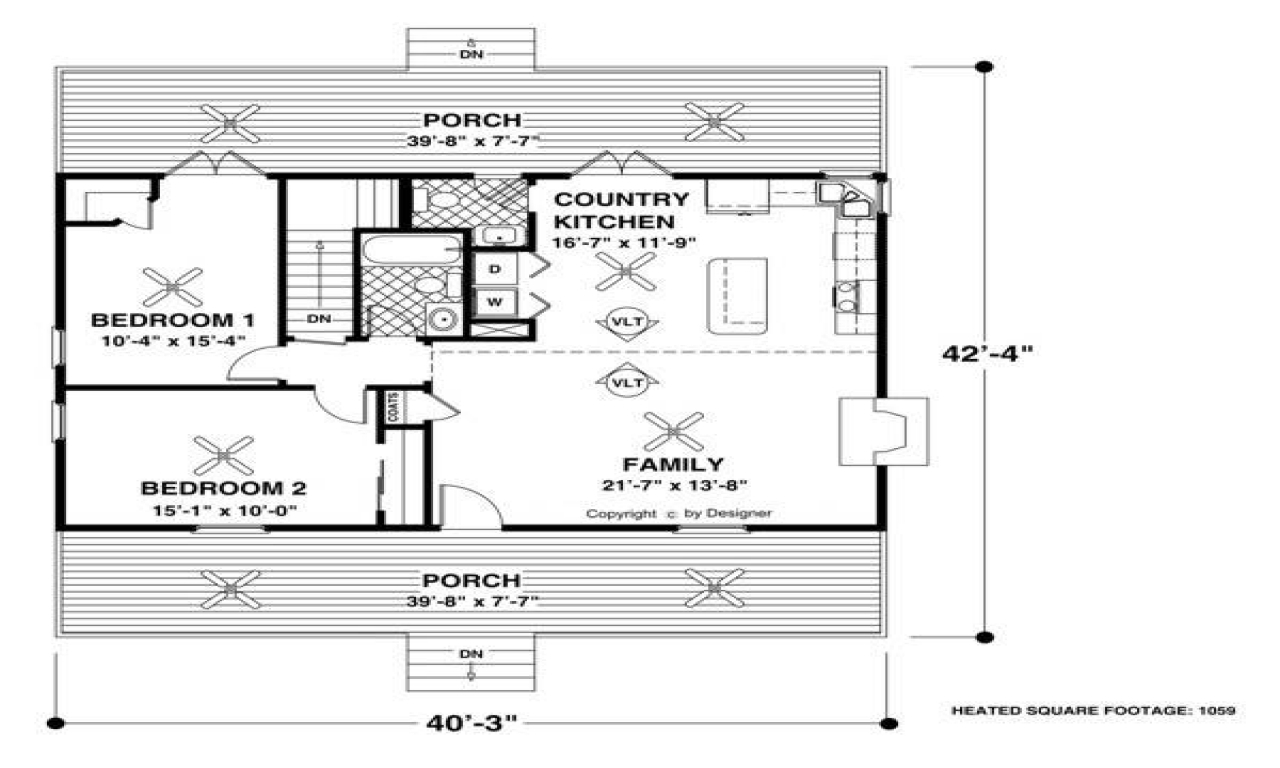 Lake house plans small cottage forest lake cottage house for Small lake homes floor plans