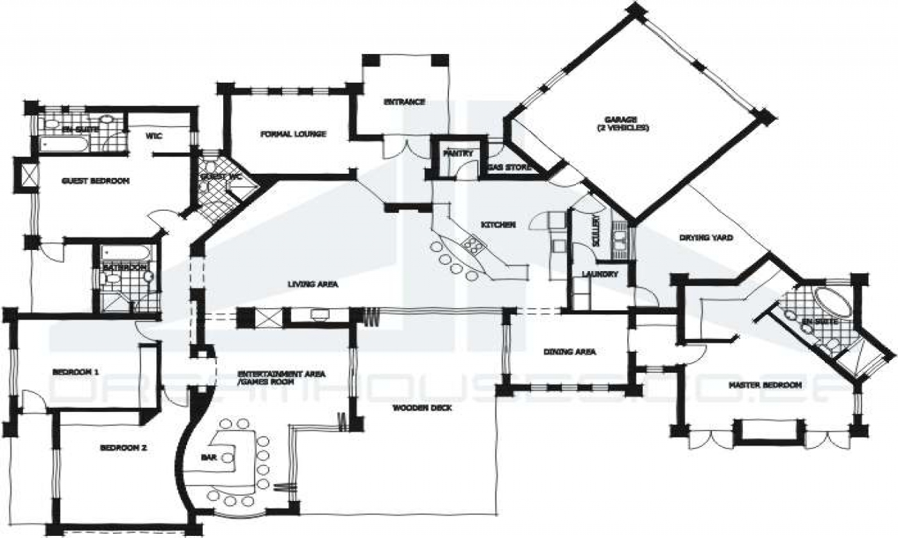 Modern 3 Bedroom House Plans South Africa 4 Bedroom House ...