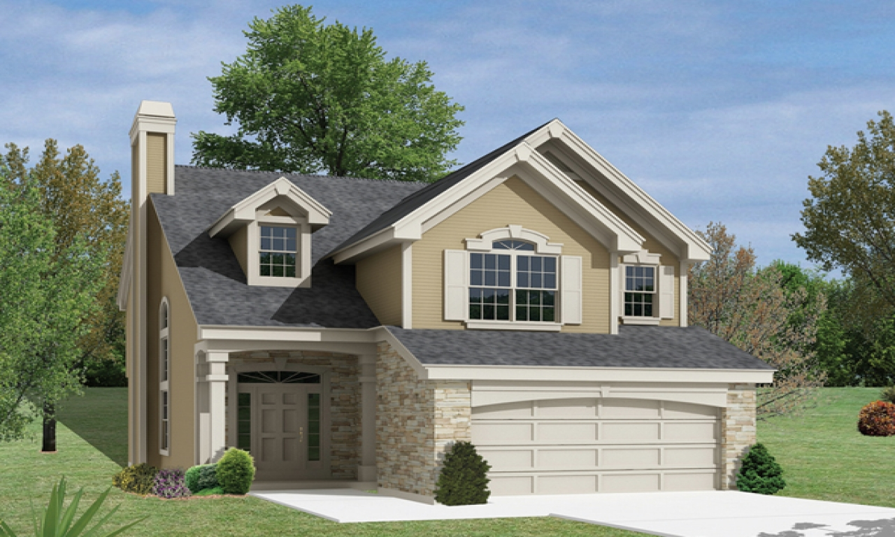 Simple Two-Story House Small Two Story Narrow Lot House ...