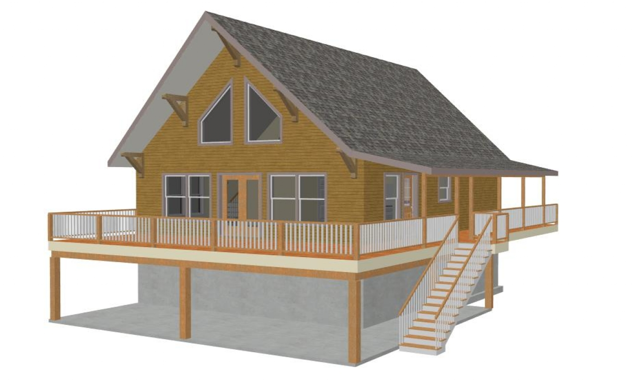Small mountain cabin house plans snowy mountain cabin for Cabin house plans with basement