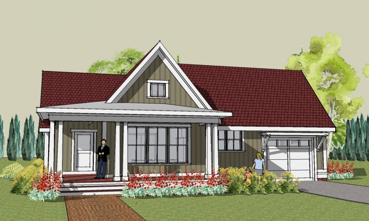 Small Two Bedroom House Plans Simple Cottage House Plans ...