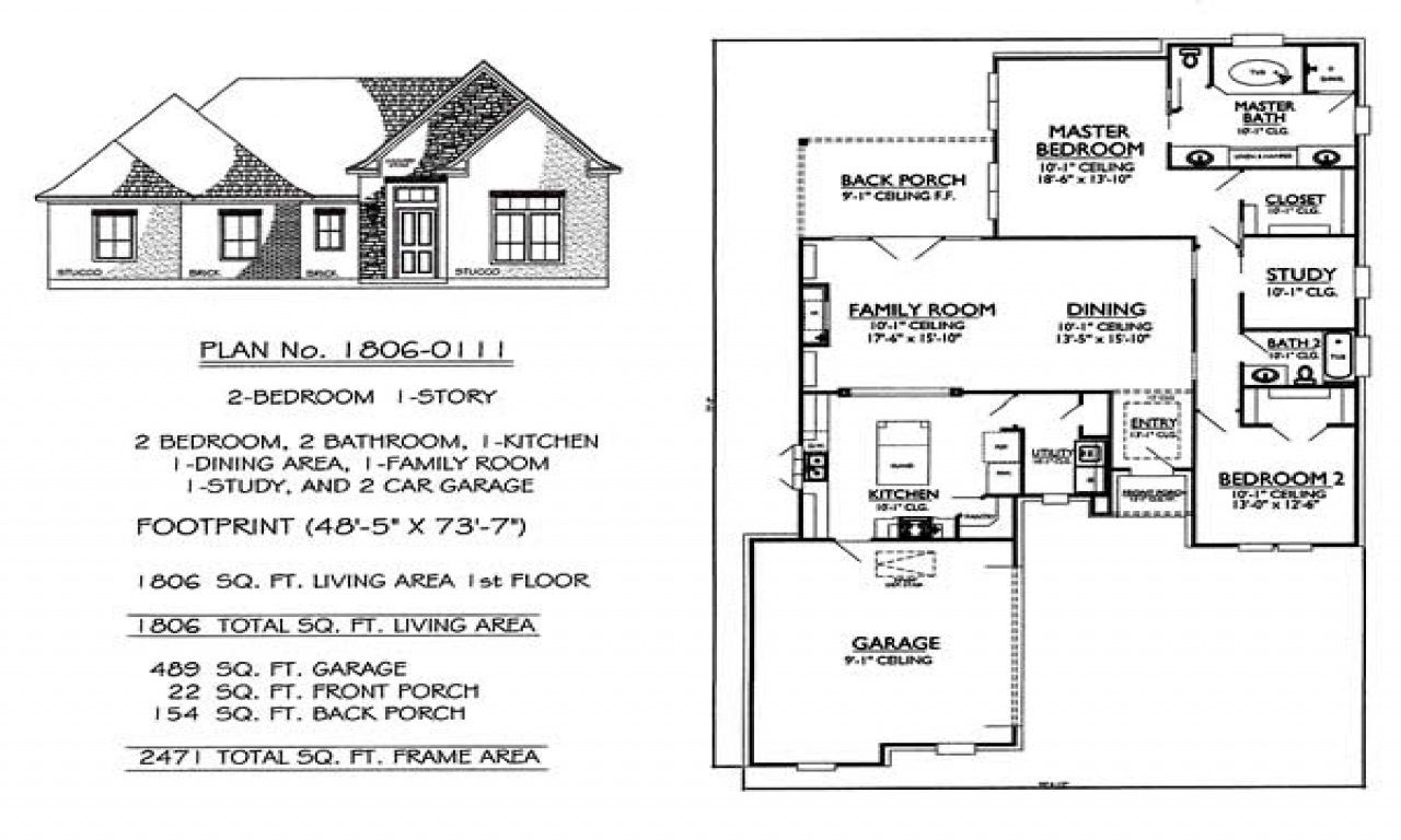 Story 2 Bedroom 2 Bathroom 1 Dining Room 1 Family Room House Long Lots Blueprints 3 Bedroom