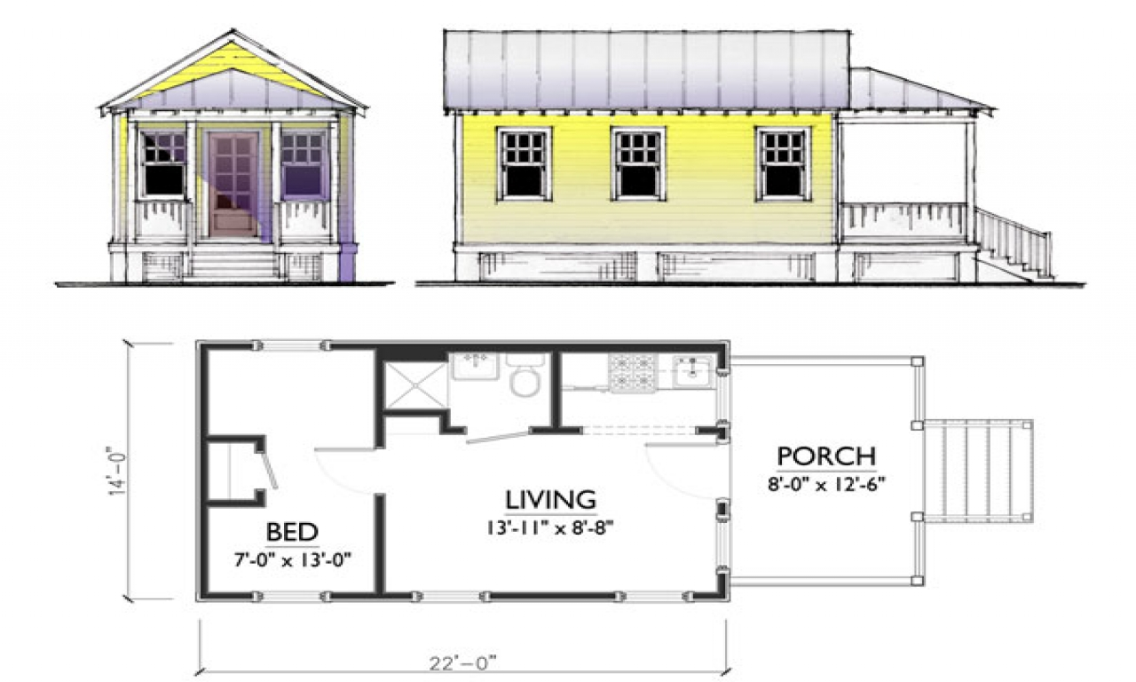 Tiny solar house plans small tiny house plans tiny homes for Solar cottage plans