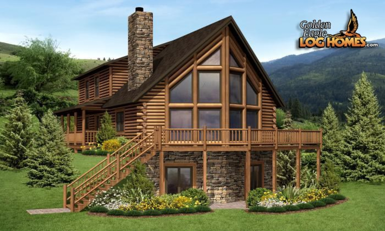 Big log cabin homes log cabin home golden log homes for Large log cabin homes