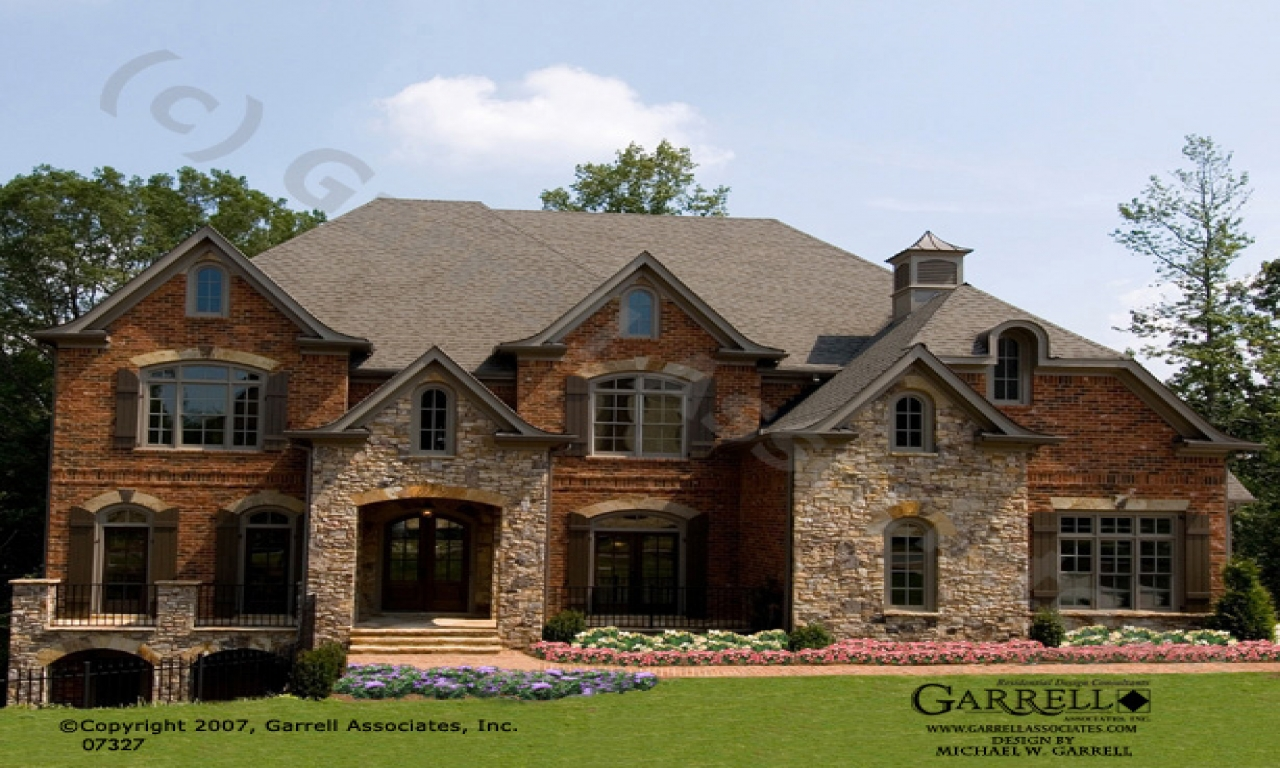 Brick stone exteriors homes brick and stone house plans for Traditional brick house plans