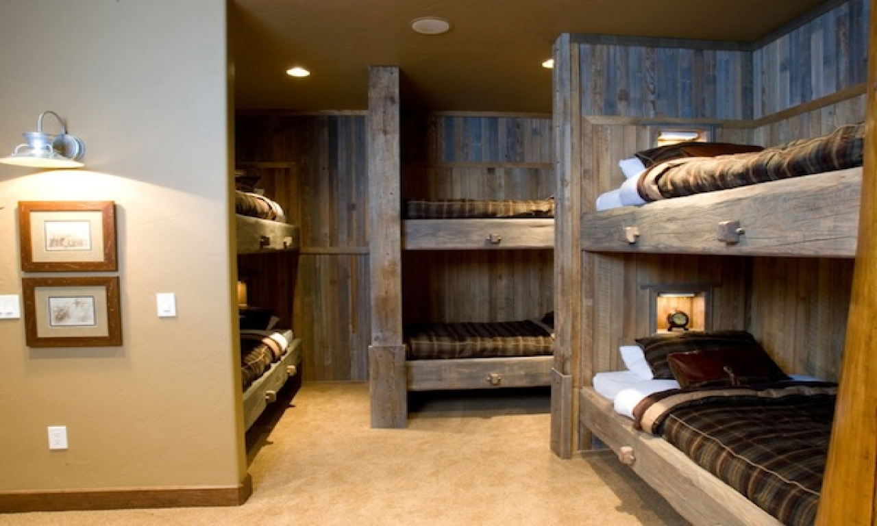Cabin bunk room ideas bunk rooms designs for adults - Bunk beds for small rooms ...