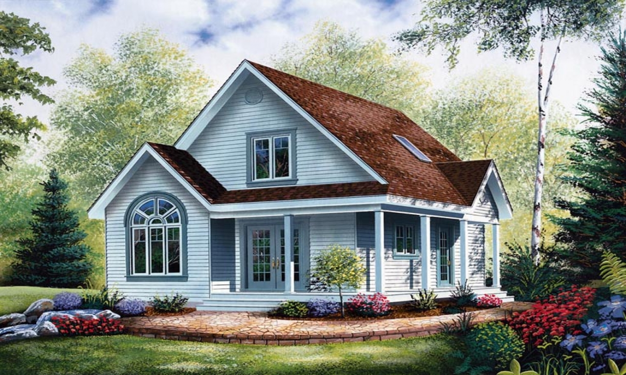 Cottage style house plans with porches economical small for Economical cabin plans