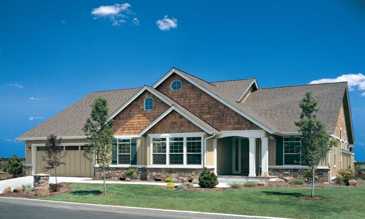 Craftsman house plans craftsman ranch home plans ranch for Craftsman rambler house plans