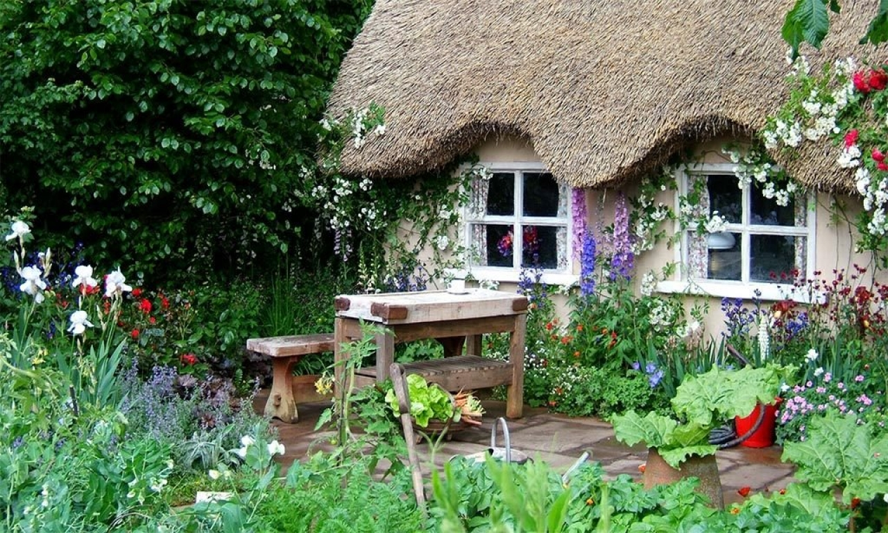 English garden for small area english cottage garden for Small cottage garden designs