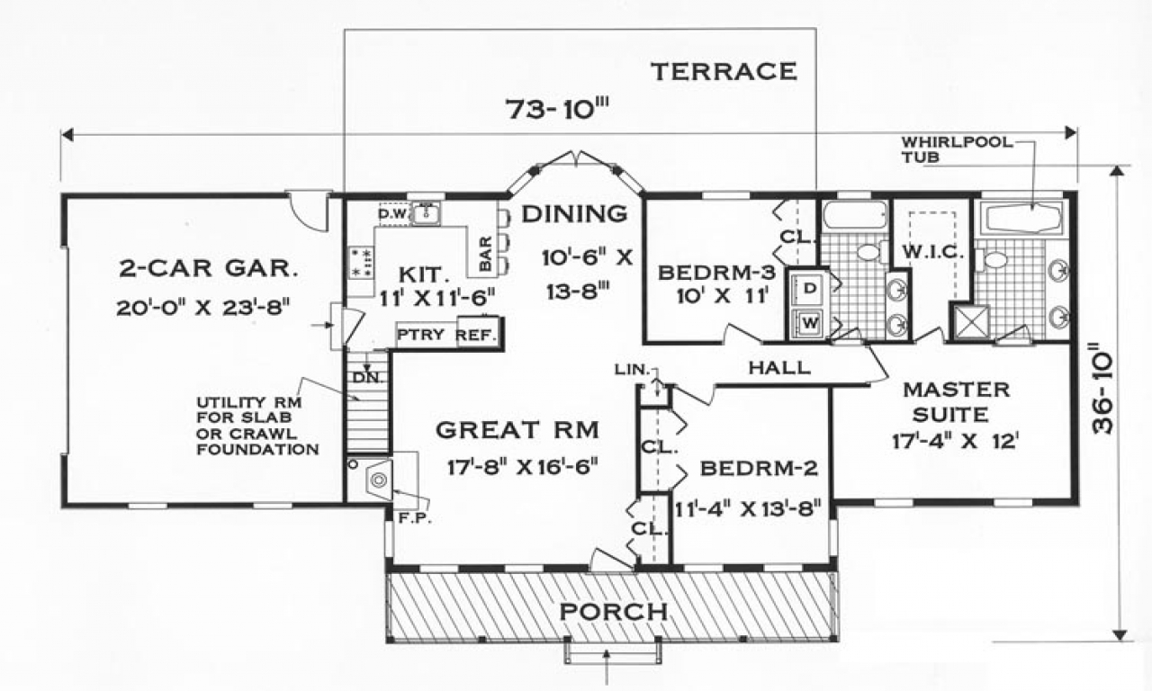 Ground Floor Simple One Story Floor Plans, one story house ...