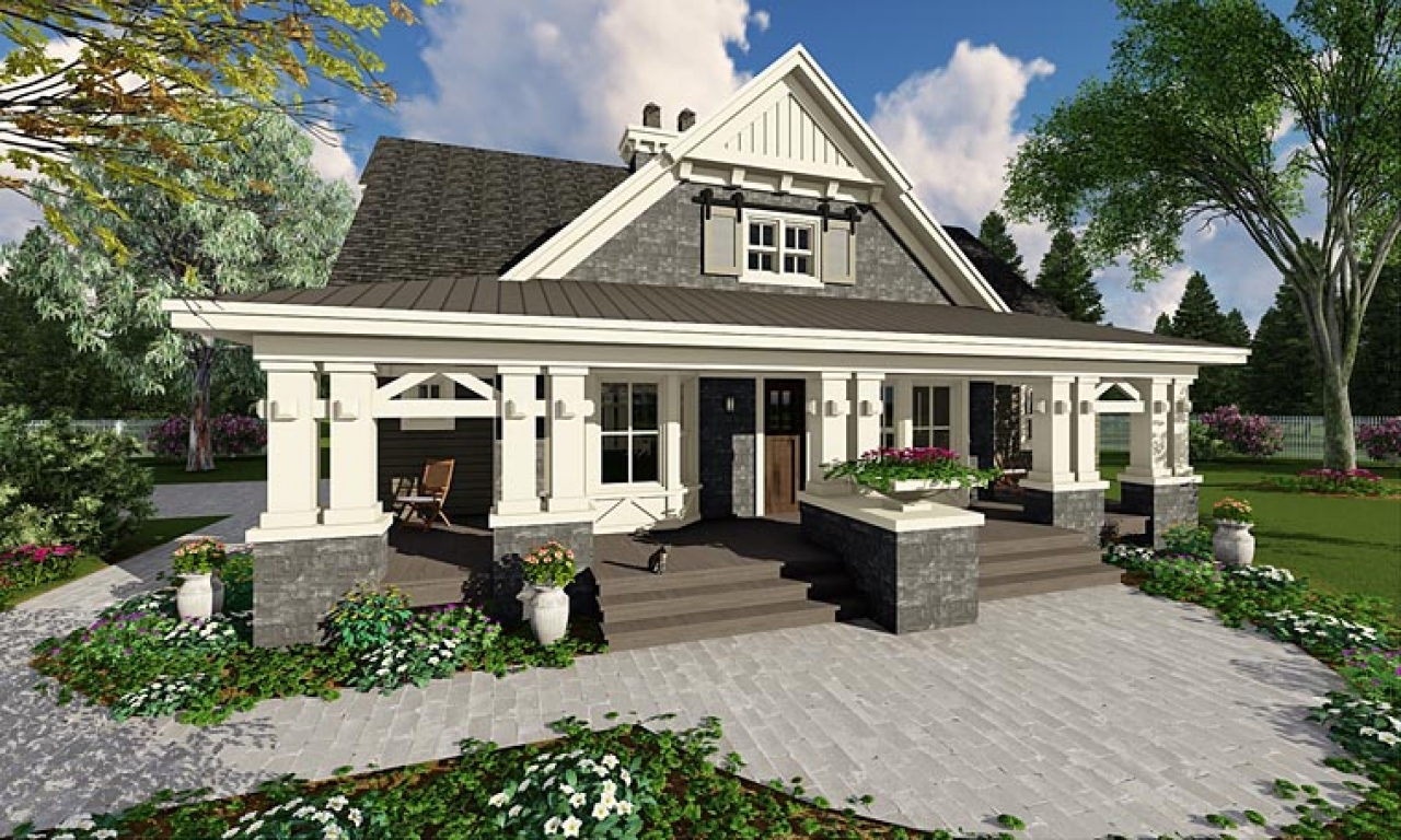 Home style craftsman house plans single story craftsman for One story craftsman homes