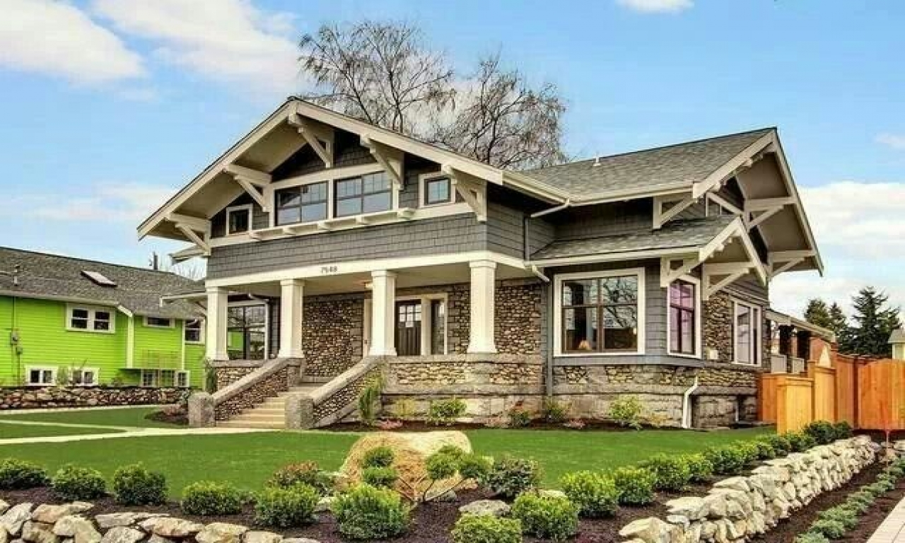Most beautiful house plans beautiful craftsman style house for Beautiful ranch houses