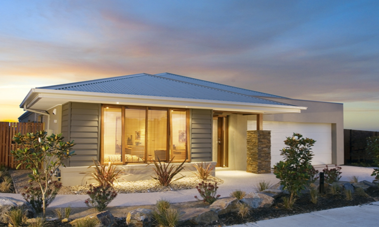 Single story beach homes beautiful single storey house for Award winning one story house plans