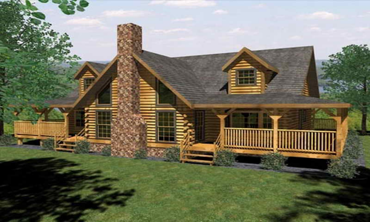 Single story log cabin house plans log cabin house plans for Single story log home floor plans