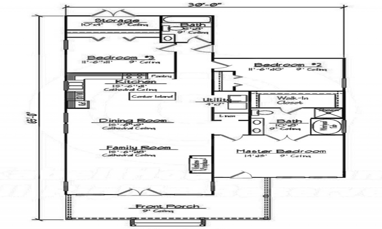 Small 3 bedroom house floor plans 2 bedroom house layouts for 2 bedroom ranch house floor plans