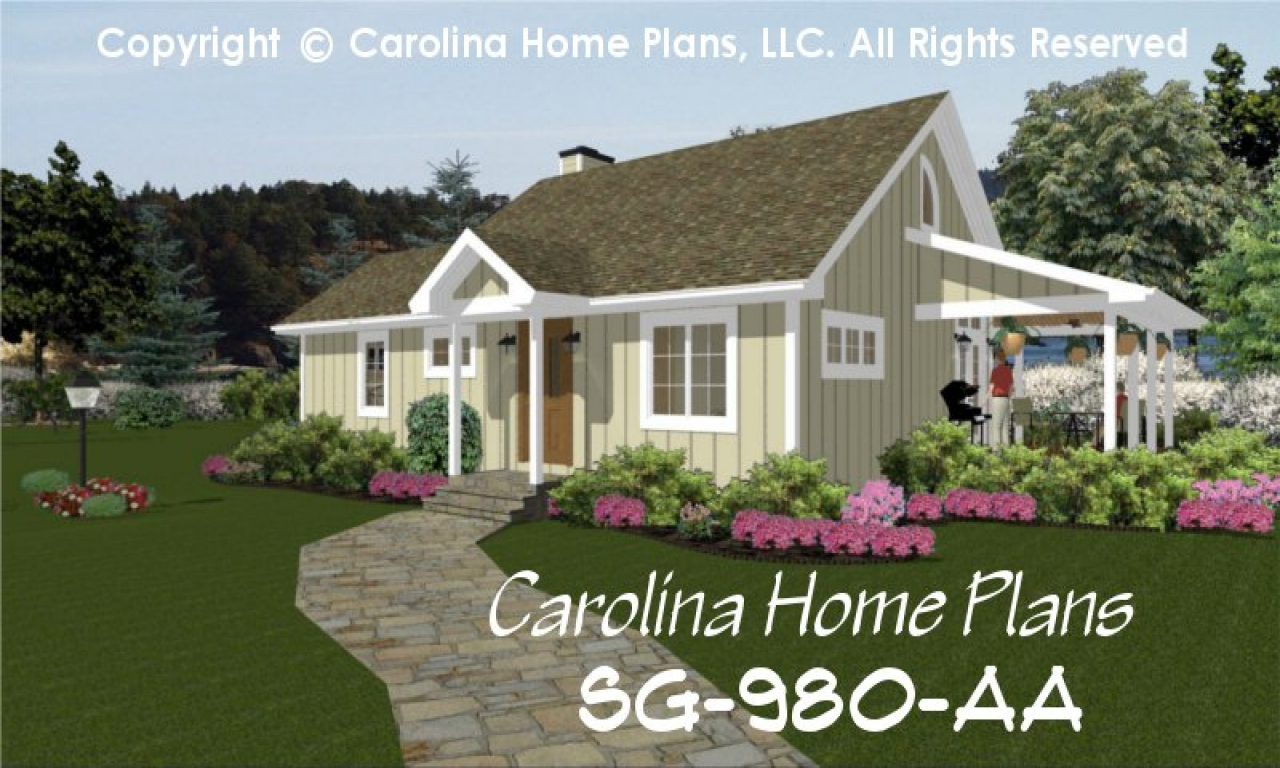 Small cottage house plans one story southern house plans for One story southern house plans