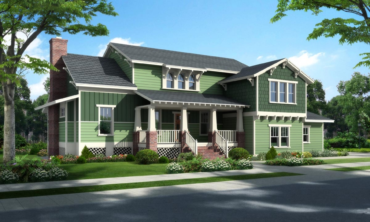 Craftsman bungalow colors exterior traditional craftsman Traditional bungalow house plans