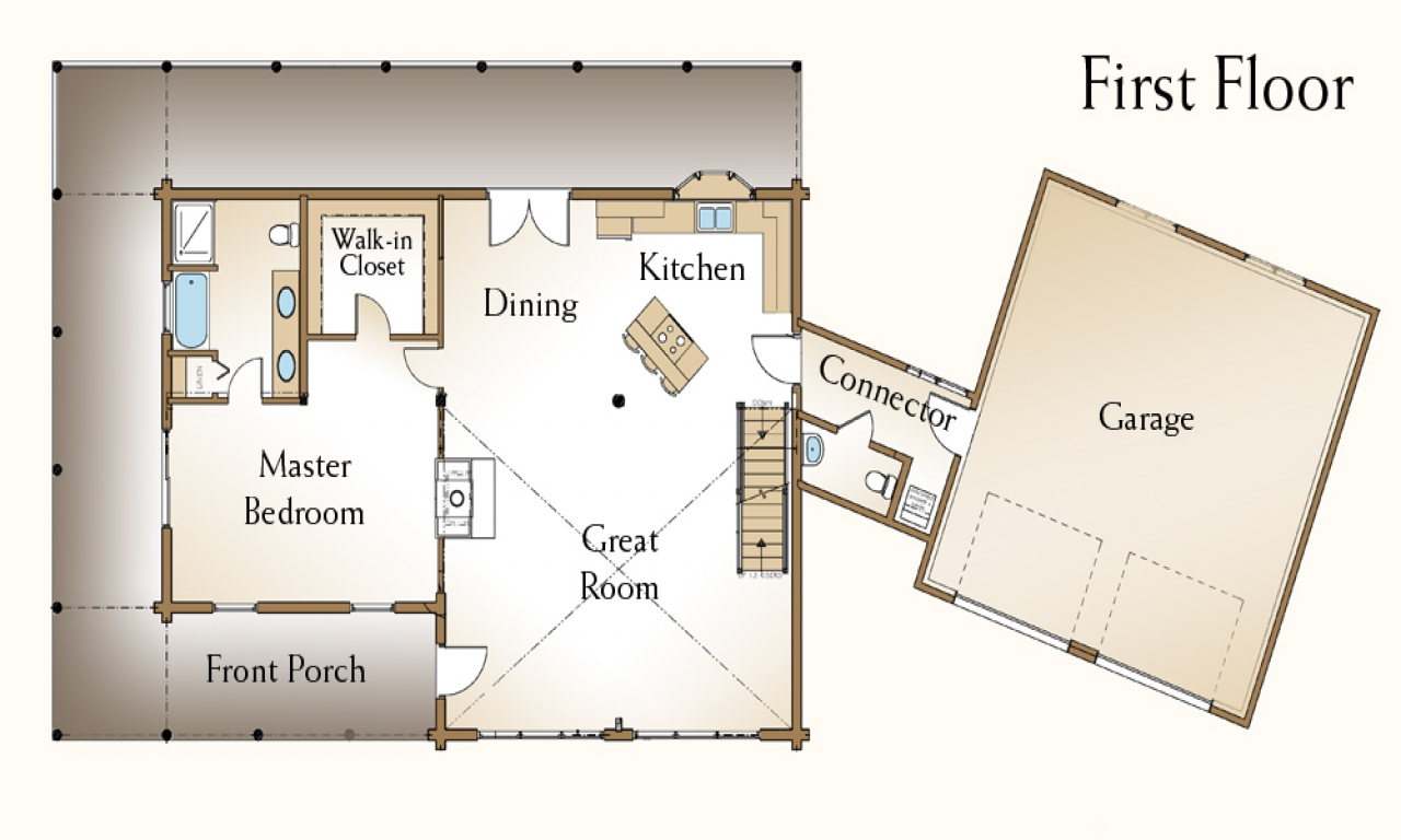 Log cabin home plans log home floor plans with loft log for Chalet house plans with loft