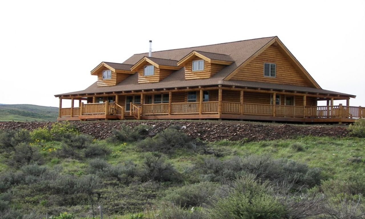 Log Cabin With Waterfall Log Cabins With Wrap Around
