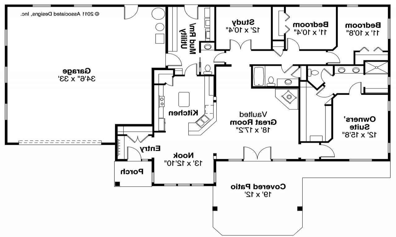 Ranch house plans ranch house plans with basements lake for One story ranch house plans with basement