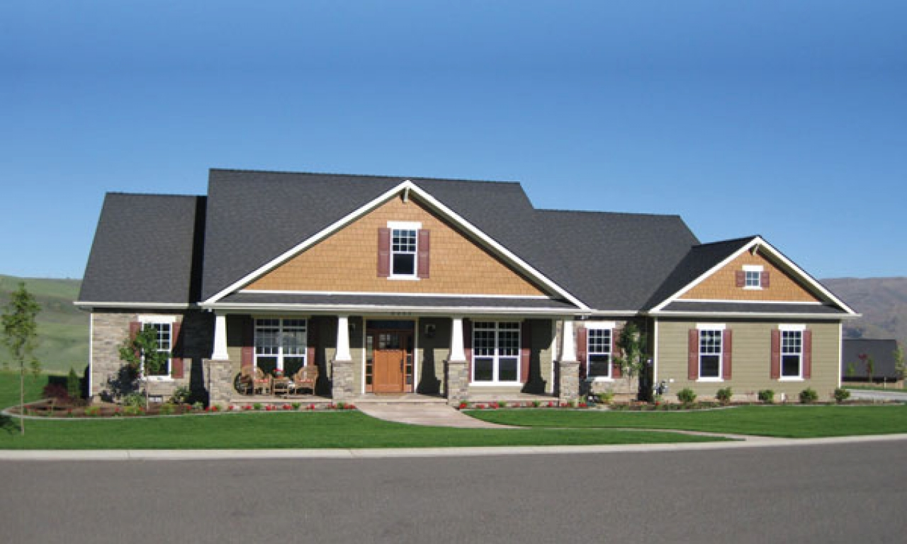 Ranch style house plans with basements house plans ranch for Craftsman style house plans with basement