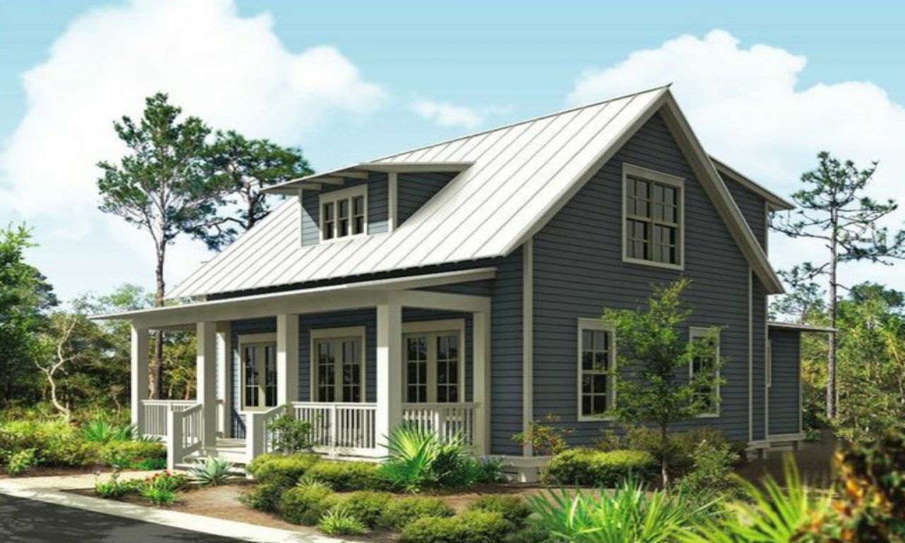 Small modern cottages small cottage style house plans 1 for One story cottage