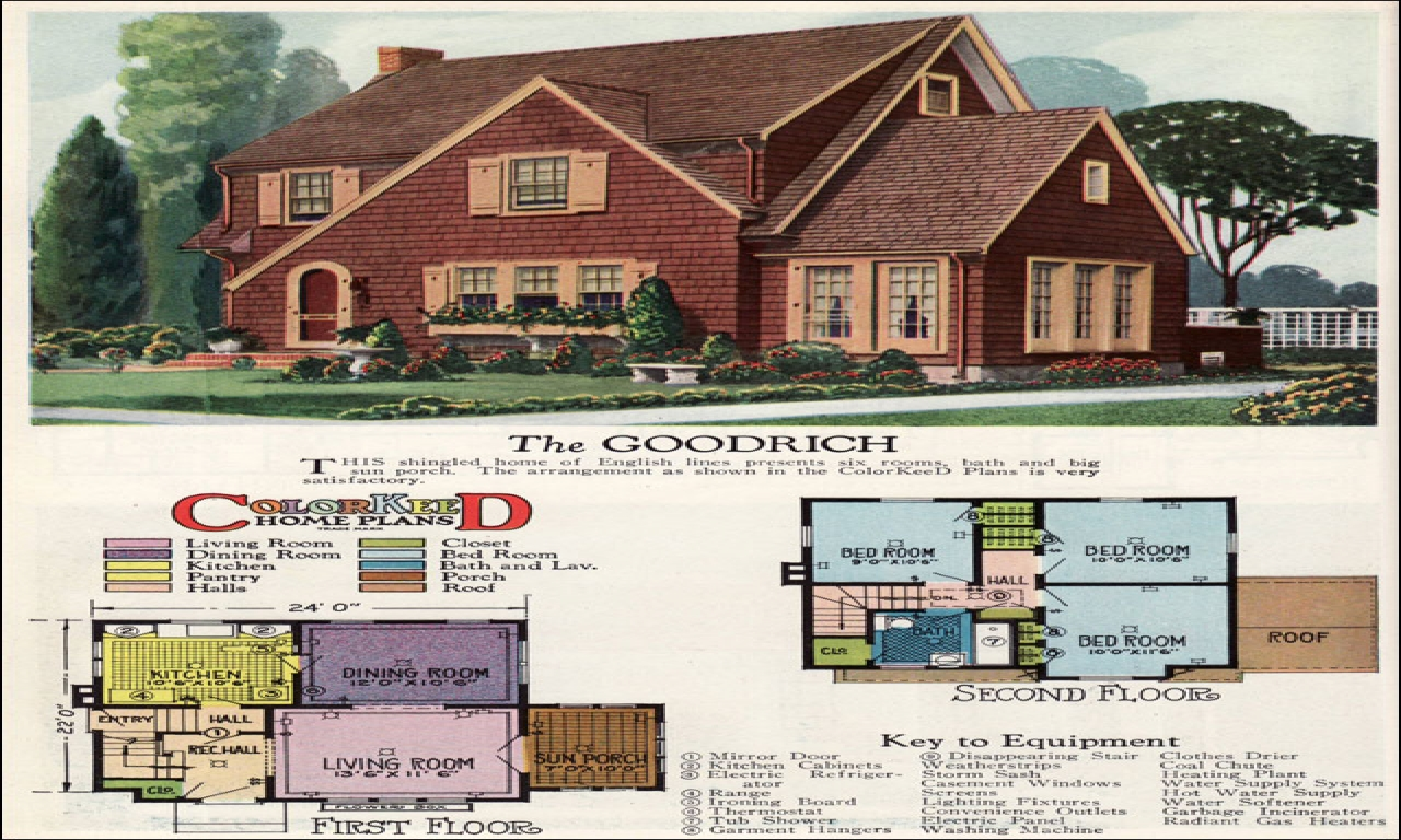 Vintage english cottage house plans old scottish cottages for Old english cottage house plans