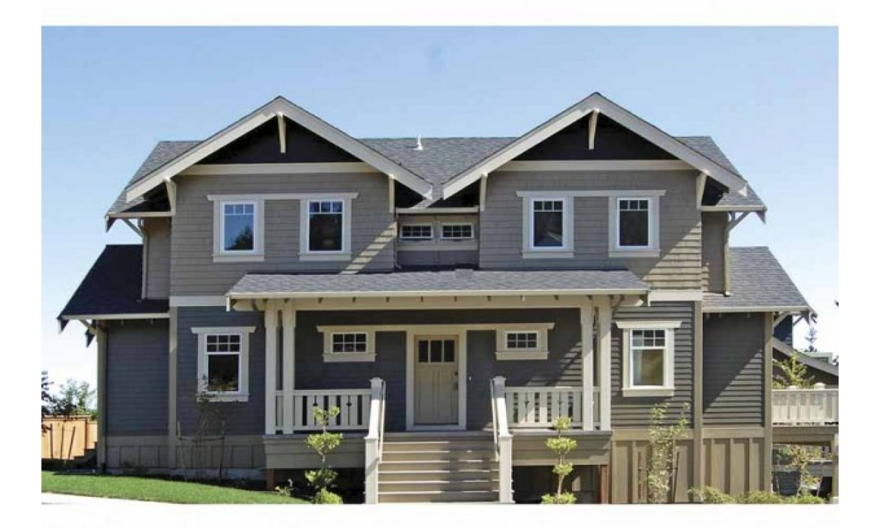 2 story craftsman bungalow house plans 2 story craftsman for Two story house styles