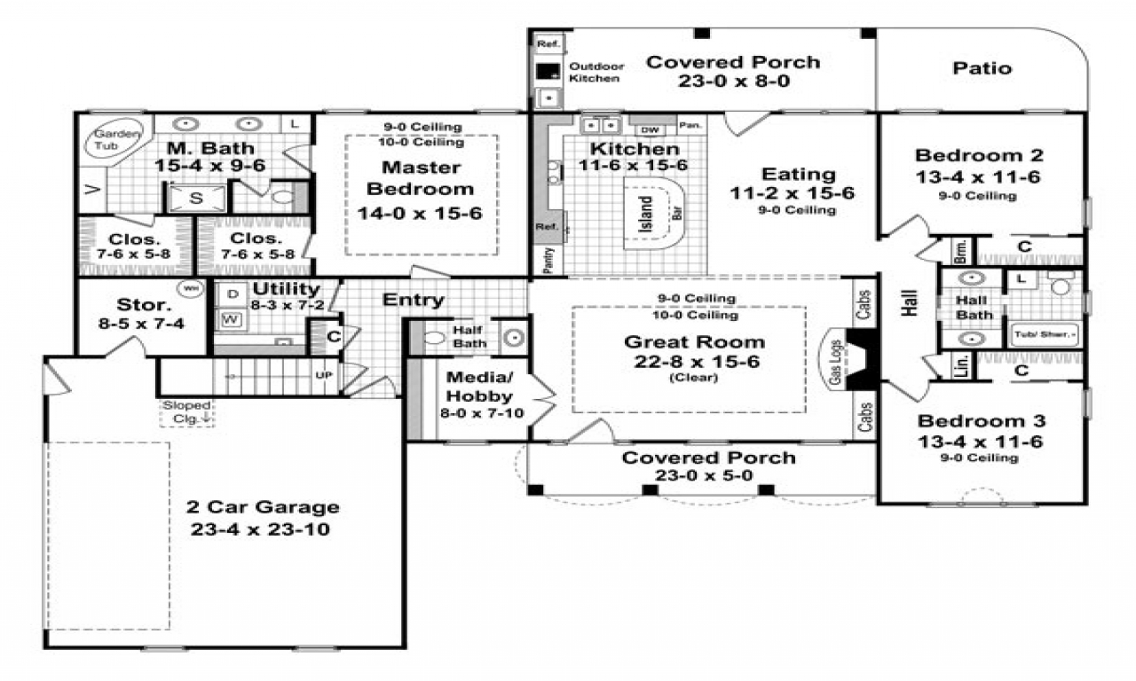 2000 sq ft floor plans for house 2000 sq ft one story for Floor plans 2000 sq ft ranch