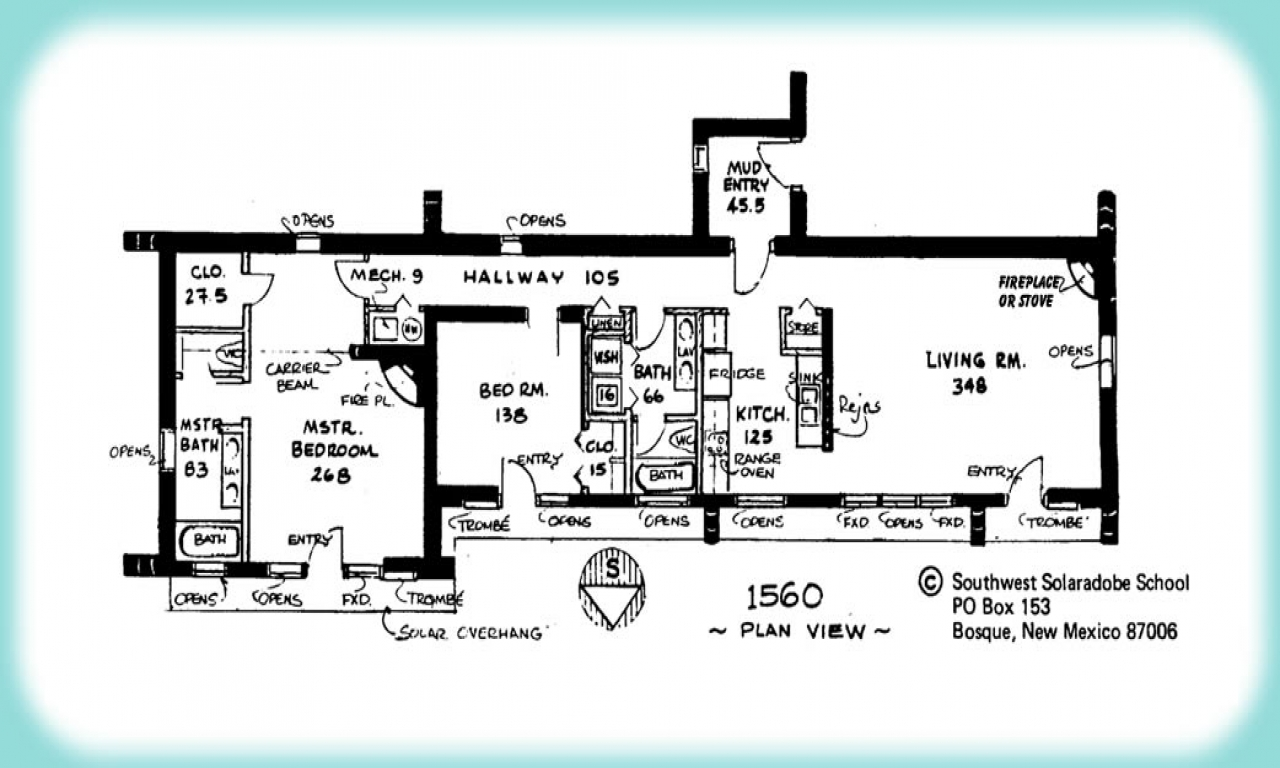 Adobe house floor plan single adobe house plans plan view for Adobe house designs