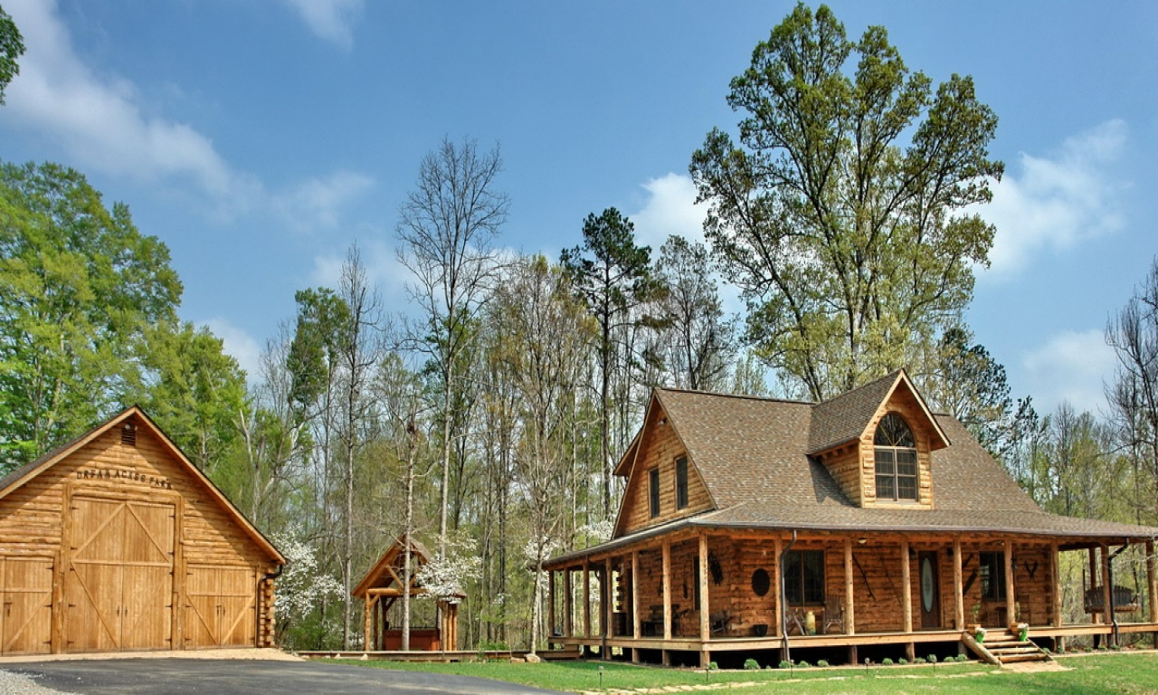 Affordable rustic log homes log home rustic country house for Affordable cabin plans