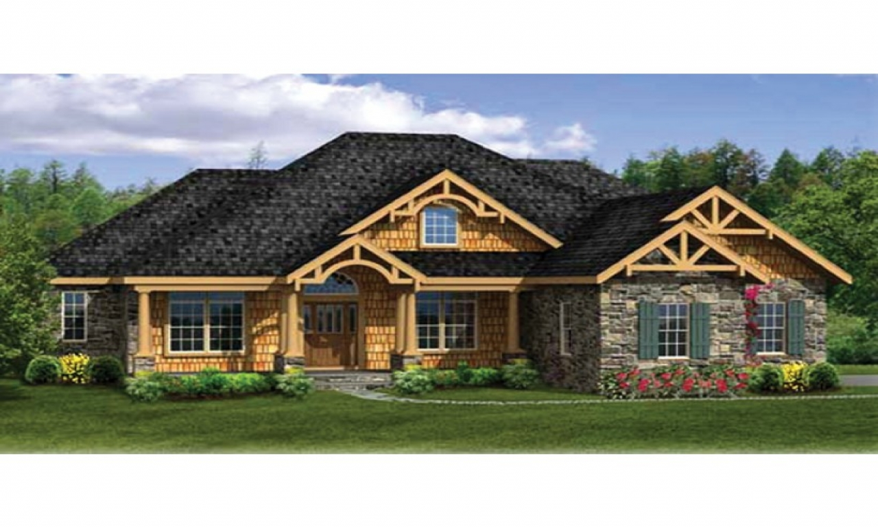 Craftsman house plans with walkout basement modern for Farmhouse plans with basement