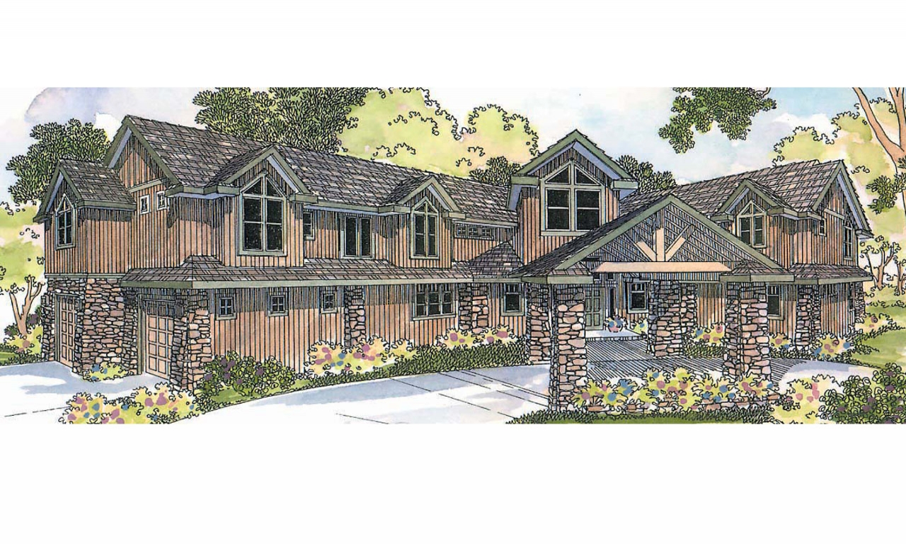 Craftsman lodge style house plans single story craftsman for Lodge type house plans