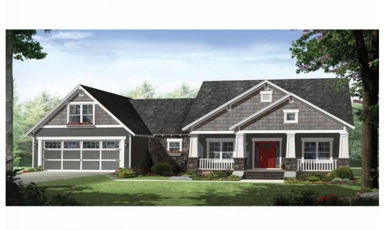 Craftsman Style Ranch House Plans With Porches Ranch Homes