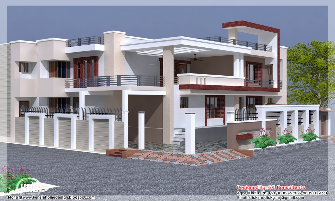 D Front Elevation Of House : Front elevation indian house designs simple