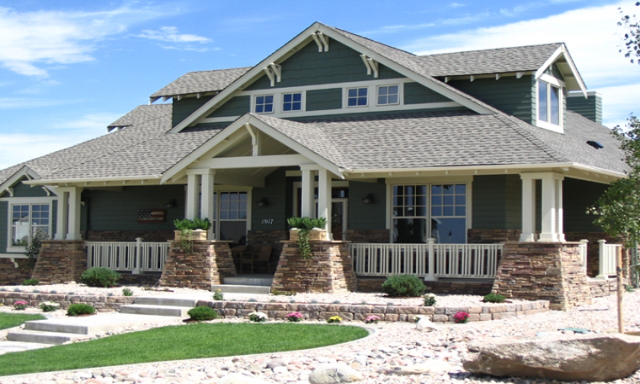Home style craftsman house plans single story craftsman for One level craftsman house plans