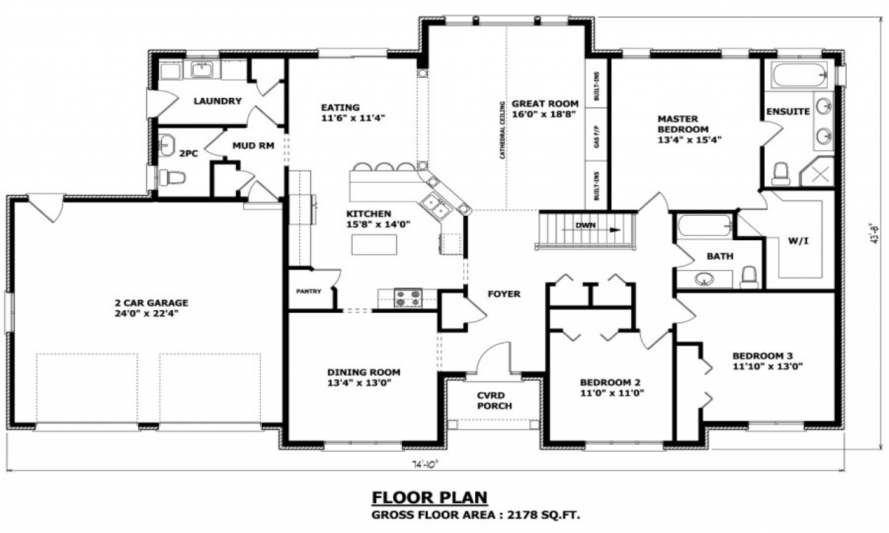 Luxury home floor plans custom homes floor plans house for Luxury bungalow floor plans