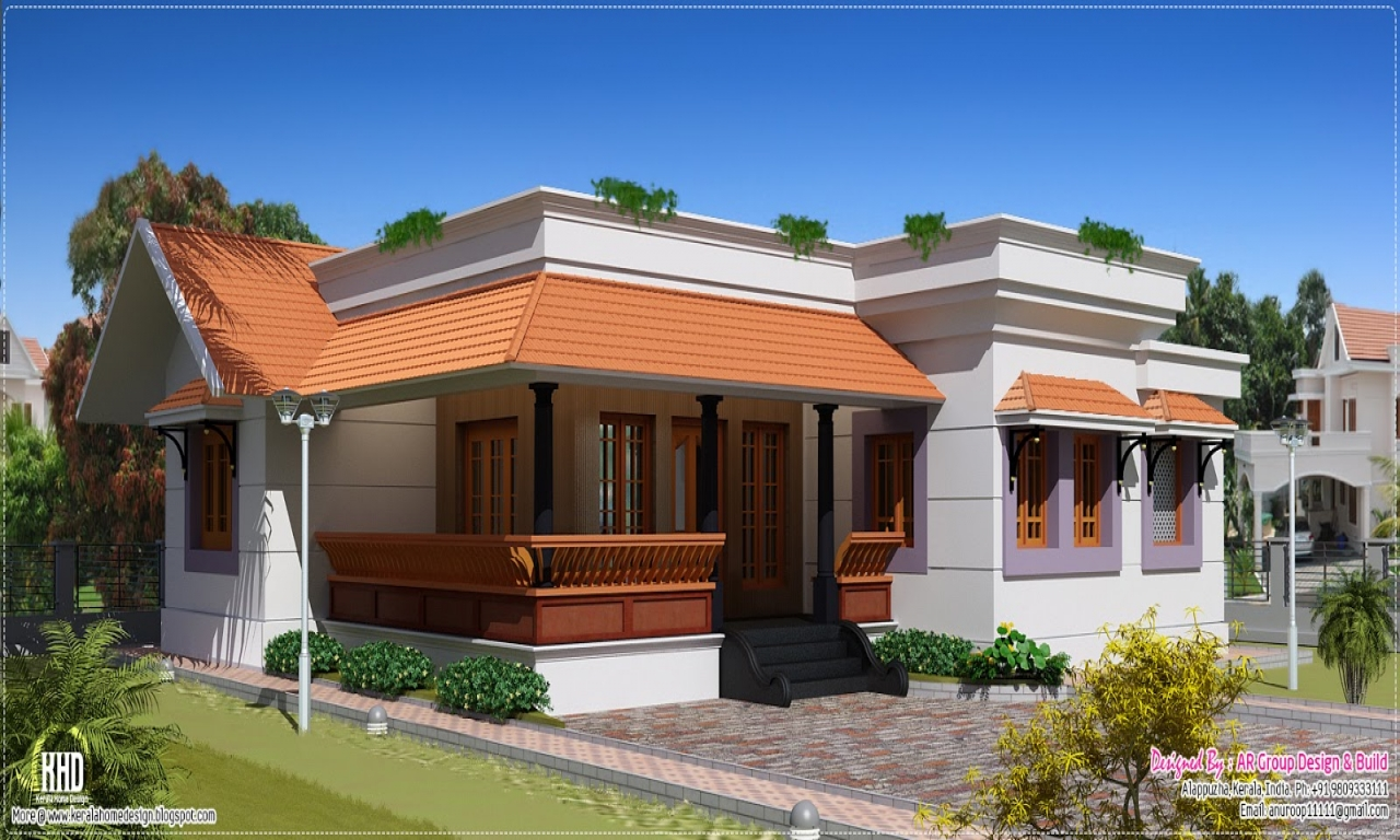 Modern single floor house designs kerala single floor for Modern home design 1 floor