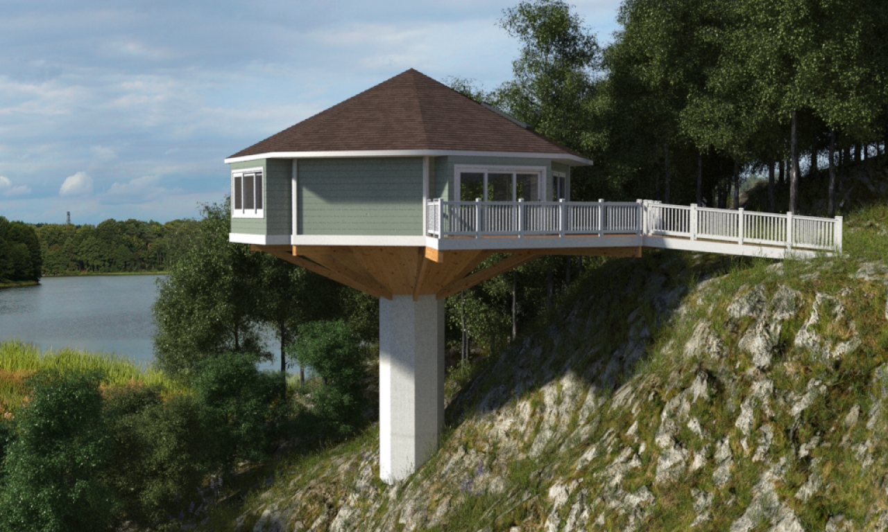 Octagon House On Pedestal Pedestal Octagon House Piling Homes